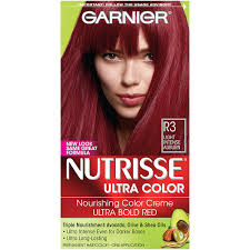amazon garnier nutrisse ultra color nourishing hair color creme r3 light intense auburn packaging may vary chemical hair dyes beauty