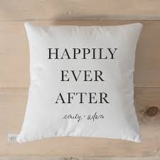 custom happily ever after pillow – pcb home