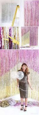diy chevron fringe photo booth backdrop