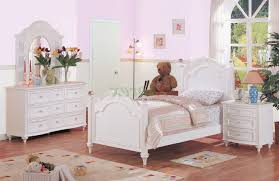 Ashley Furniture White Bedroom Set Beige Floral Pattern Wall Decal ...