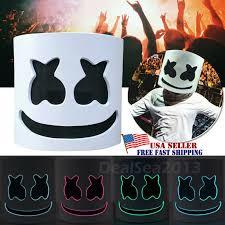 dj marshmello led mask full head helmet easter cosplay bar prop 12 99