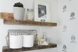 floating shelves wooden diy rustic along artistic