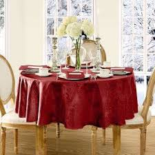 70 in round red elrene barcelona damask fabric tablecloth