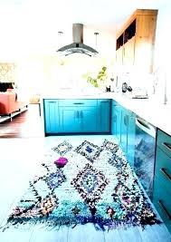 blue and yellow kitchen rugs turquoise rug decor as best area for farmhouse aqua ideas braided yellow kitchen mat