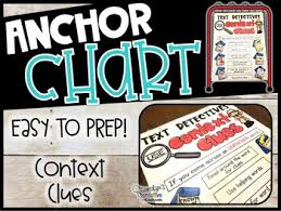 Context Clues Anchor Chart Context Clues Anchor Chart Just Print Cut And Glue