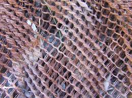 Rusty Chain Link Fence Texture Chain link fencing Paint texture