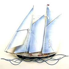sailboat wall art metal nautical designs schooner home decor star large sailboat wall art ceramic three dimensional sculpture yacht metal  on yacht metal wall art with sailboat wall art ceramic three dimensional sculpture yacht metal