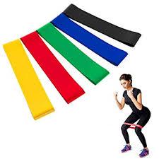 Resistance Bands Set Exercise Bands - <b>5 Colors Yoga Resistance</b> ...