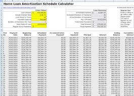 Amortization Schedule Formula Example Excel Download Mortgage