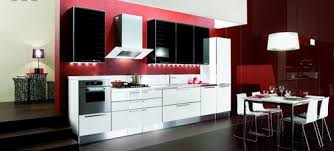 modern red black and white kitchen ideas