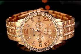 hot geneva stainless steel watch fashion metal quartz wrist cheap round geneva watches best stainless steel analog thick watches men