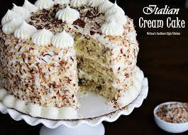 Italian Cream Cake Melissassouthernstylekitchencom
