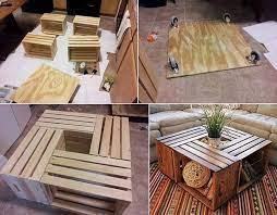 homemade coffee table crate coffee
