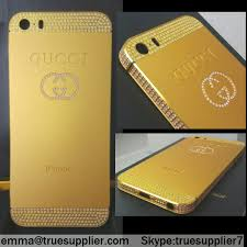 gucci 5s. matte gold crystals apple iphone 5s back housing case cover-gucci version gucci c