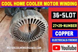cool home cooler motor winding data