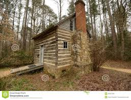 royalty free stock photo historic log cabin