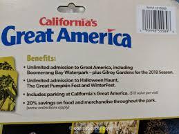 california s great america 2018 gold pass costco
