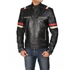 motorcycle cafe racer retro moto leather jacket l men leather jacket for