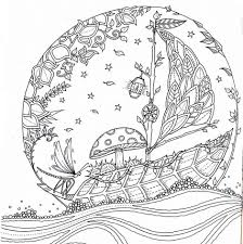 Sailing Bubble Colouring Page