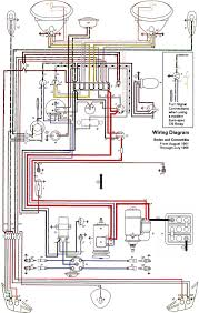 thesamba com type 1 wiring diagrams 71 Beetle Wiring Diagram at 1973 Vw Bug Instrument Panel Wiring Diagram