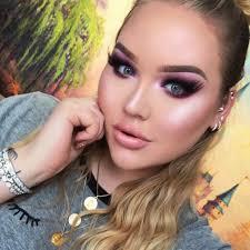 snow bunny makeup beauty cosmetics winter trend purple
