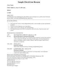 Resume Template Electrician Electrician Resume Sample Electrician ...