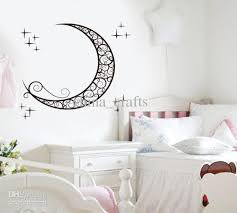 removable moon wall stickers kids room wall stickers decals baby room wall decor wall stickers online with 4 1 piece on china crafts s store dhgate  on wall art stickers nursery uk with removable moon wall stickers kids room wall stickers decals baby