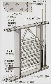 view more gallery seven days to a better diy pool cue rack plans