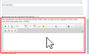Email Signature Html Creating Email Signature In Horde Doteasy Com