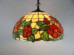 stained glass ceiling light luxury fixtures lighting ideas fan lamp shades