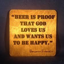 Ben Franklin Beer Quote Classy Ben Franklin Beer Quote Wall Art Woodwearandrea Housewares 48