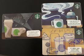 starbucks braille cards from usa canada enternment gift cards vouchers on carousell
