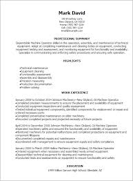 Resume Templates: Machine Operator Resume