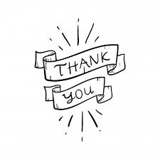 Word Thank You Lettering Word Thank You Doodle Vector Illustration Vector Premium