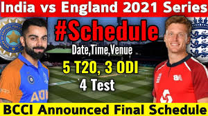 India squad, players list for england test series 2021: India Vs England Series 2021 4 Test 5 T20 3 Odi Match Final Schedule Date Time Indveng Youtube