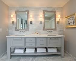bathroom countertop tile ideas. Bathroom Vanity White Quartz Countertop Marble Tiles Floor Gray Walls Ideas Bathroom.com Tile