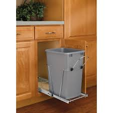 Details About Steel In Cabinet 20 Qt Single Pull Out Trash Can