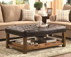 coffee tables padded table large leather ottoman grey storage square small round magnificent size of oval tufted circle black low and stools wi