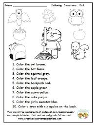 best following directions ideas following this is a cute fall activity for students to and follow directions on a fall