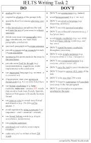 Ielts Writing Dos And Donts Of Task 2 College Survival