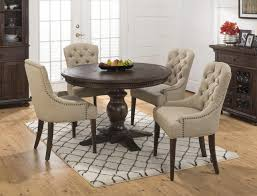 exquisite round pedestal dining table set 4 enchanting for black wooden with chair cabinet vas flower rug white wall floor