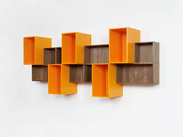 wallmounted shelf  contemporary  mdf  lacquered mdf  floating