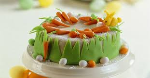 Carrot Cake With Marzipan Decorations Recipe Eatsmarter