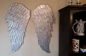 wood angel wings wall art large carved look wooden angel wings intended for recent angel