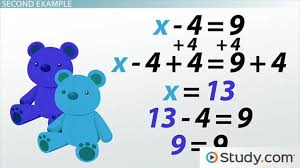 solving equations using the addition