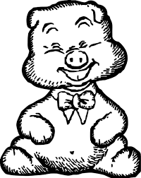 Small Picture Happy Pig Baby Farm Animal Coloring Page Wecoloringpage