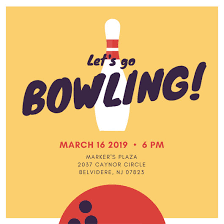 Bowling Invitation Impressive Customize 44 Bowling Invitation Templates Online Canva
