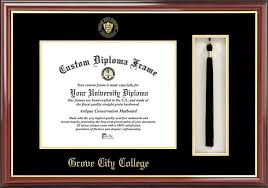 grove city college diploma frames certificate framing gcc  details buy · college grove city college wolverines embossed seal tassel box mahogany diploma