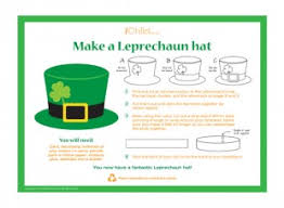 template of a leprechaun make a leprechaun hat craft ichild