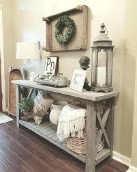 corner foyer table. Corner Console Table Farmhouse Vignette In A Foyer Entry Idea Entryway .